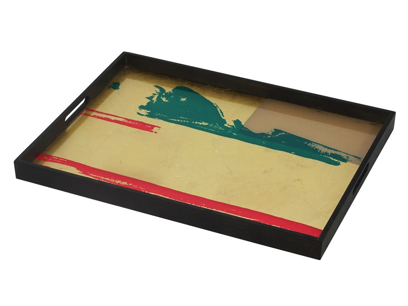 Rectangular glass tray ABSTRACT VISTA by Notre Monde