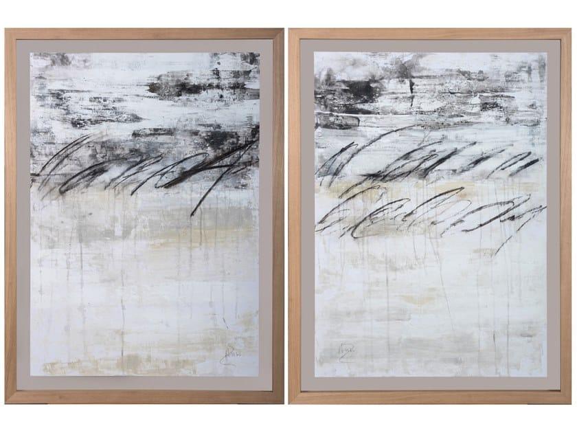 Paper Painting Abstracto Caligrafía I & II by NOVOCUADRO ART COMPANY