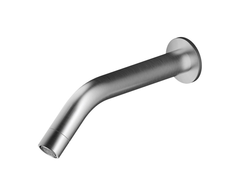 Wall-mounted stainless steel spout AC977   Spout by MGS