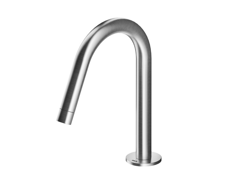 Deck-mounted stainless steel spout AC978 | Spout by MGS
