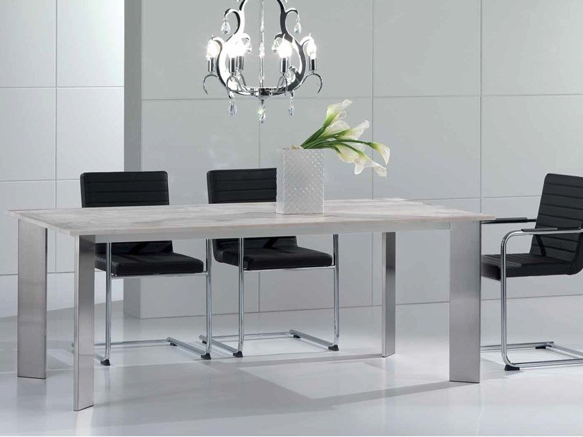 Rectangular travertine table ACAB | Rectangular table by International Marmi