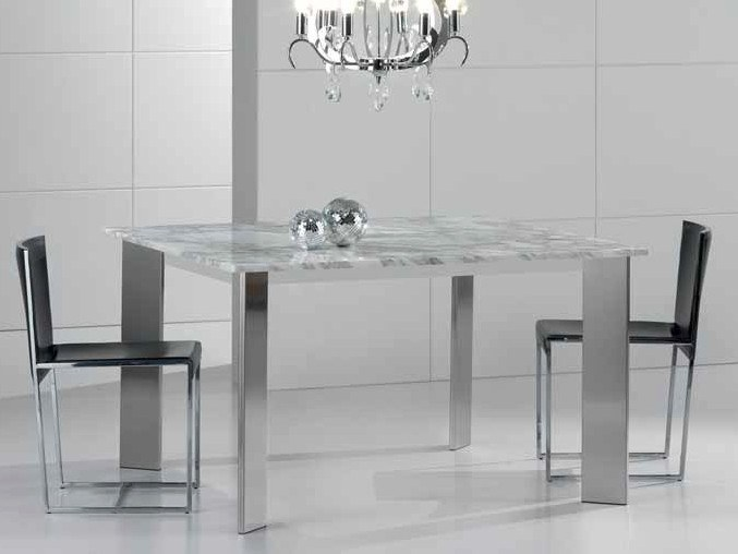 Square Calacatta marble table ACAB | Square table by International Marmi
