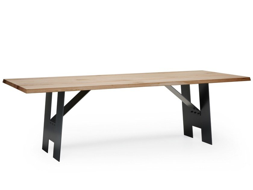 Wooden and metal table ACCA by Natisa