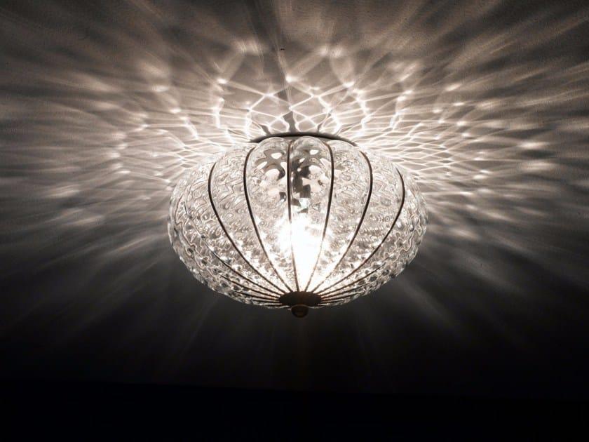 Plafoniere Vetro Di Murano Moderne : Plafoniera lampada da soffitto quadrata la murrina in vetro di
