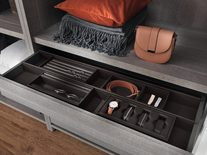 Leather storage box EXCESSORIES_VASSOI PORTAOGGETTI by SALICE