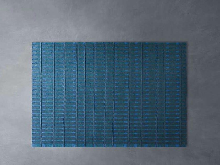 Rectangular striped felt rug ACCORDI by paola lenti