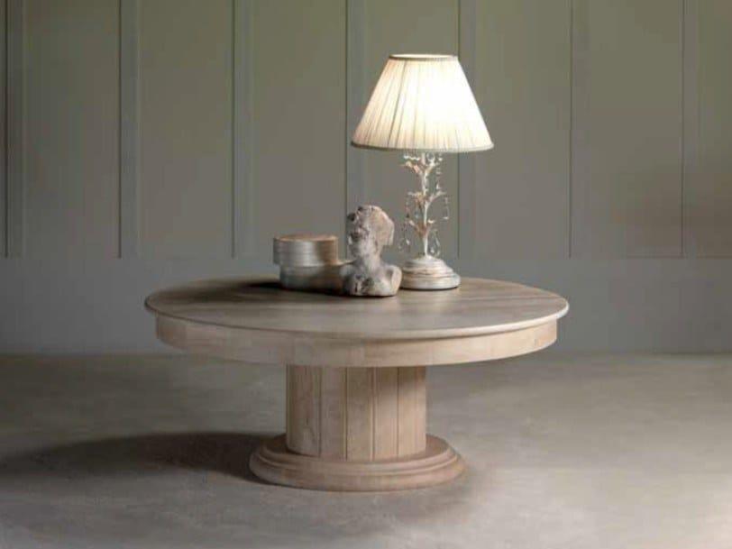 Round travertine coffee table ACHILLE | Travertine coffee table by International Marmi