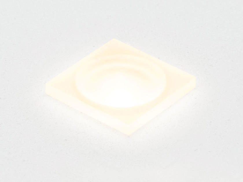 Segnapasso a LED in vetro opale per esterni ACID C by HER