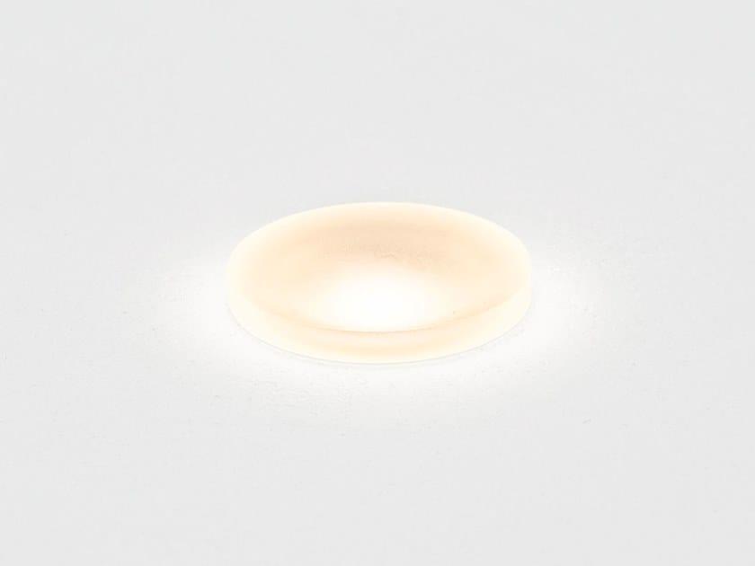 Segnapasso a LED in vetro opale per esterni ACID R by HER