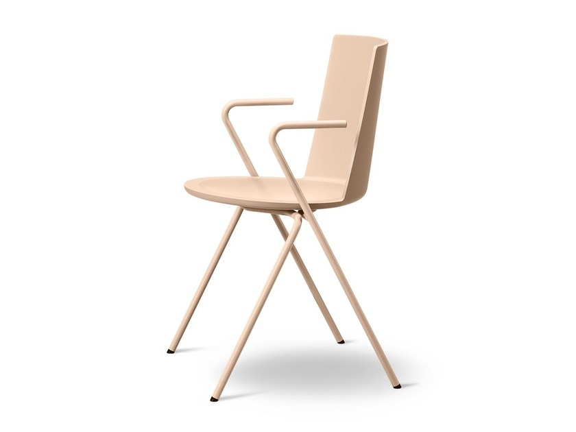 Polypropylene chair with armrests ACME | Polypropylene chair by FREDERICIA FURNITURE