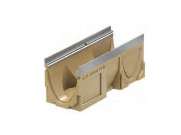 Polymere concrete Drainage channel and part ACO DRAIN® Multiline V150 - 500 mm by ACO PASSAVANT