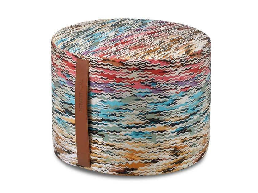 Pouf cilindro in tessuto jacquard tinto in filo ACONCAGUA | Pouf by MissoniHome