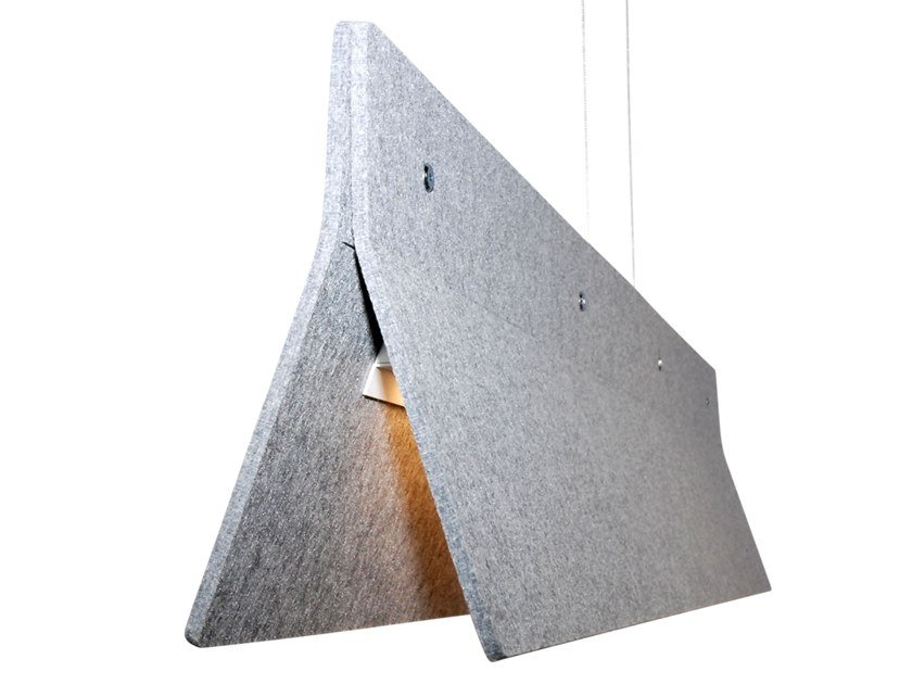 Sound absorbing pendant light ACOUSTIC LINE by Valaisin Grönlund