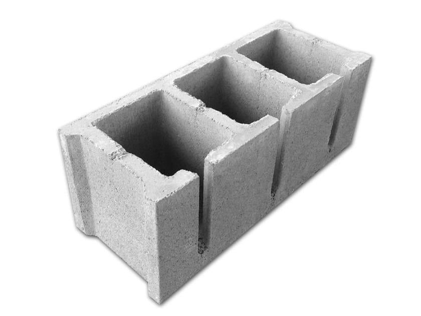 Sound insulating concrete masonry block ACOUSTICS BLOCKS by ACL