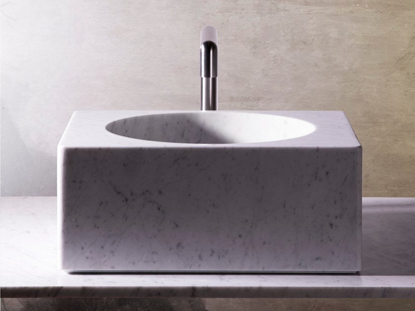 Marble sink / washbasin CUVE by Objets Architecturaux