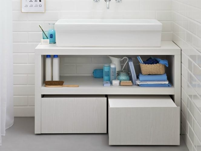 Lacquered vanity unit with drawers ACQUA E SAPONE BATH | Vanity unit by Birex