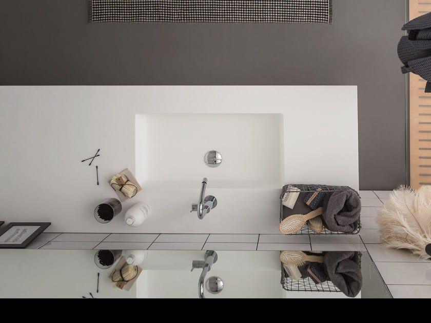 Korakril™ washbasin with integrated countertop ACQUA E SAPONE BATH | Washbasin with integrated countertop by Birex