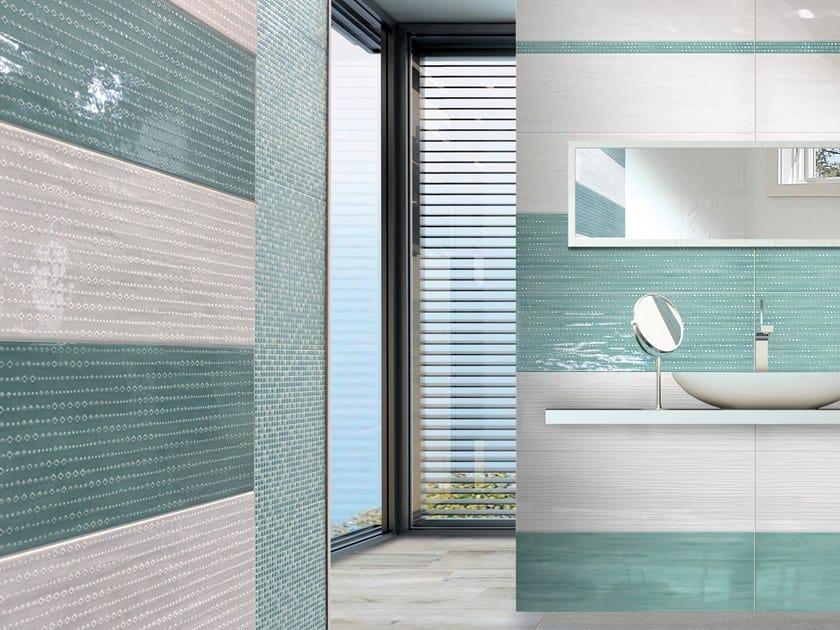 White-paste wall tiles ACQUA RIFLESSI by CERAMICHE BRENNERO