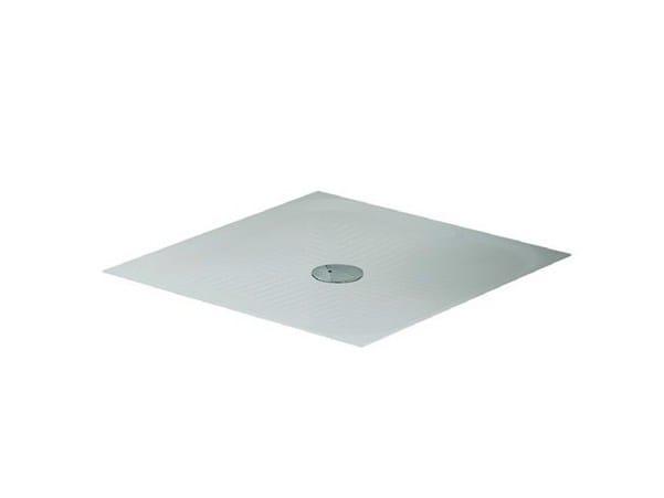 Flush fitting square ceramic shower tray ACQUARIO by GALASSIA