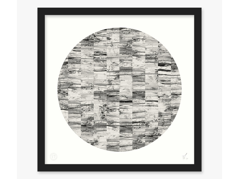 Print on paper ACRO- II CIRCLE by 17 patterns