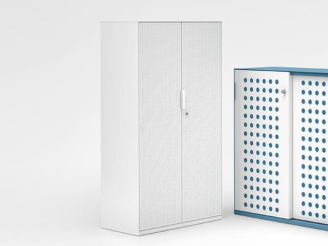 Tall steel office storage unit with hinged doors ACTA.FERRO | Office storage unit by König Neurath