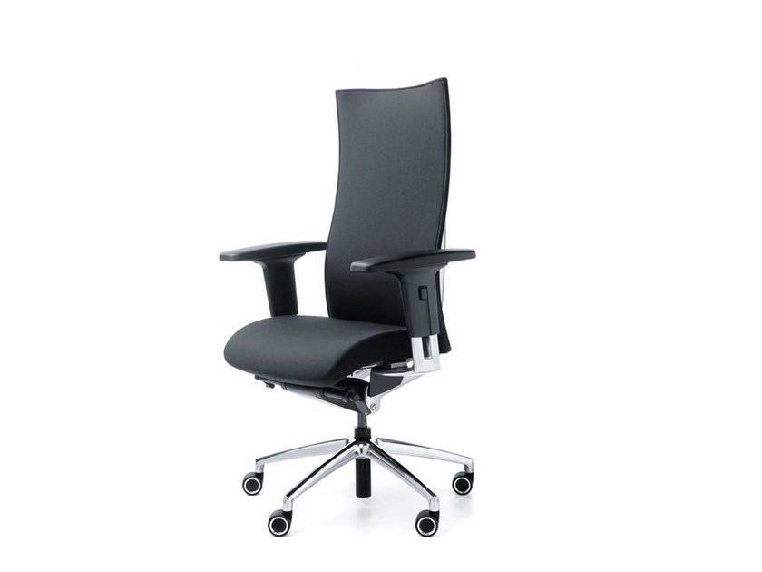 Swivel task chair with 5-Spoke base with armrests ACTION 24/7 100SFL by profim
