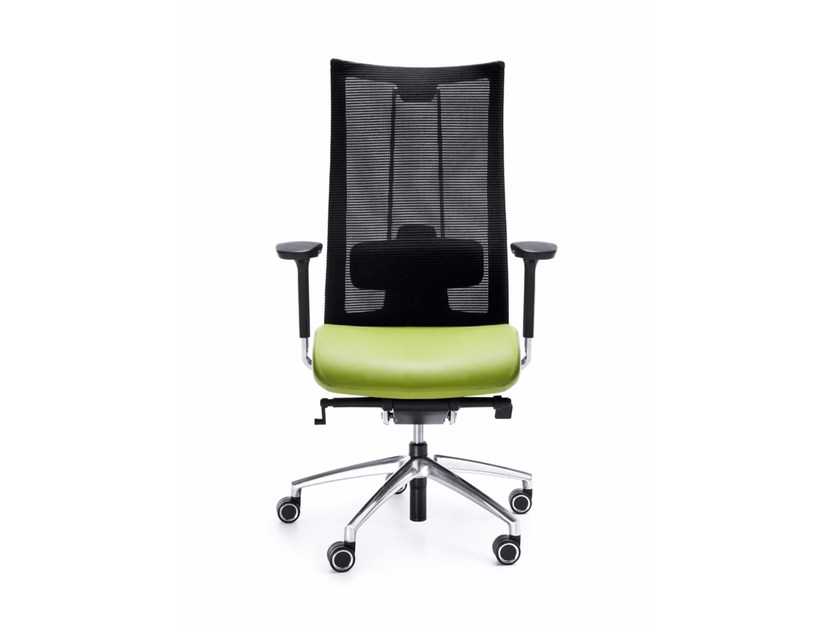 Swivel task chair with 5-Spoke base with armrests ACTION 105SFL by profim
