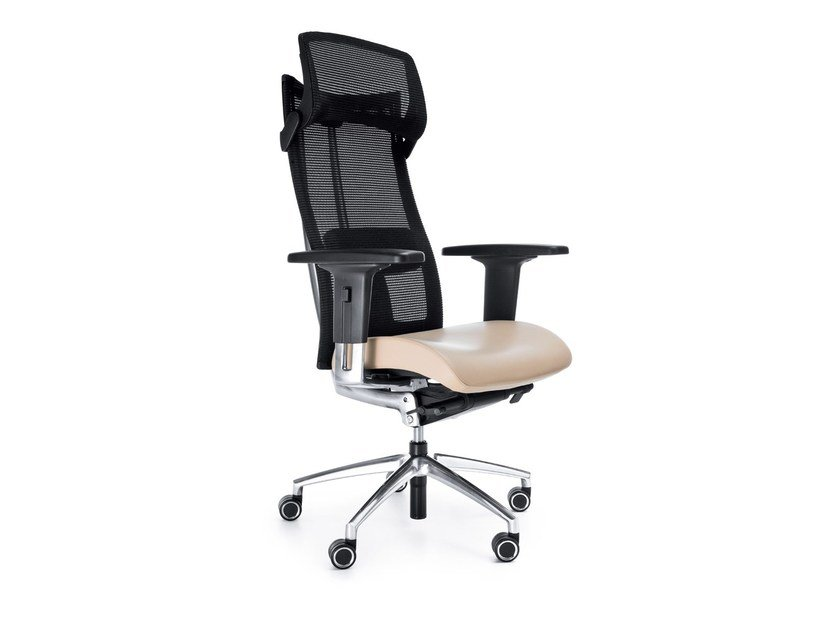 Swivel task chair with 5-Spoke base with armrests ACTION 115SFL by profim