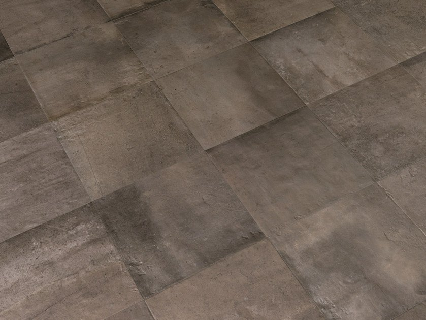Indoor/outdoor porcelain stoneware wall/floor tiles ACUSTICO 12 GREY by Viva by Emilgroup