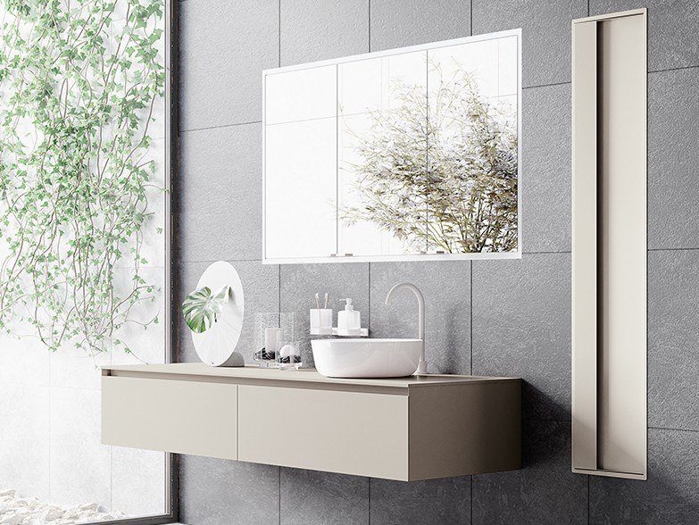Sistema bagno componibile ACUTO - Composizione 1 by INDA®