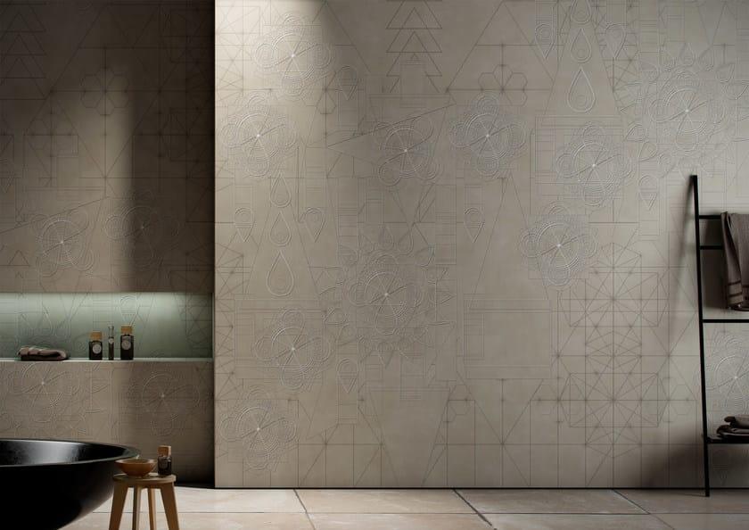 Geometric washable vinyl wallpaper ADAGIO by GLAMORA