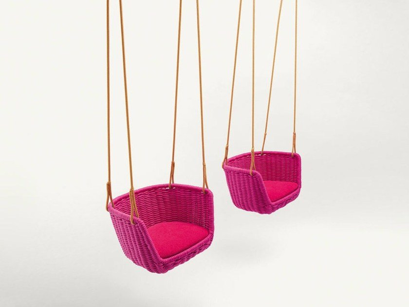 Rope garden hanging chair ADAGIO by paola lenti