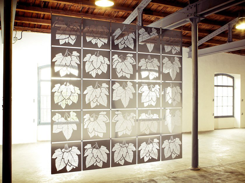 Hanging stainless steel room divider ADAM by Caino Design