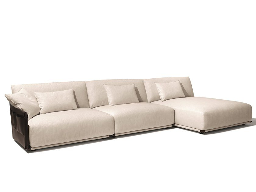 Sectional Fabric Sofa Adam With Chaise Longue By Giorgetti