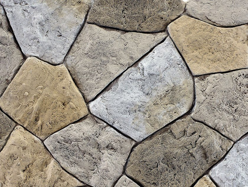 Reconstructed stone wall tiles ADAMELLO by Decor