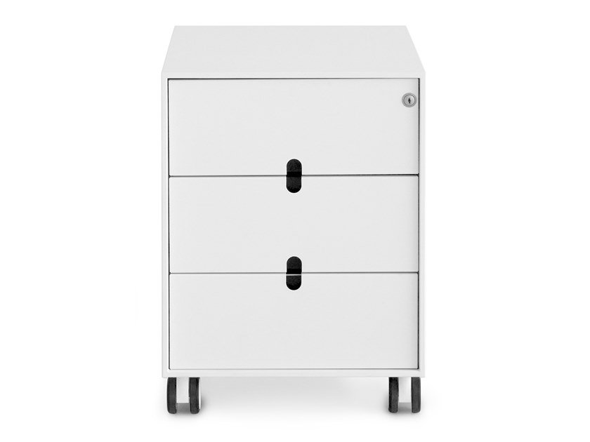 Plate office drawer unit with casters with lock ADD S | Office drawer unit by Lapalma