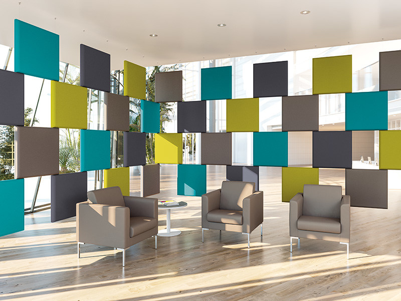 Fabric acoustic baffles ADDENDA | Acoustic baffles by Manade