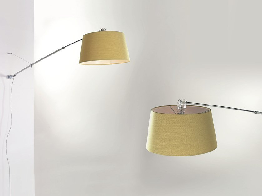 Wall lamp with swing arm ADJUSTABLE by Cattaneo