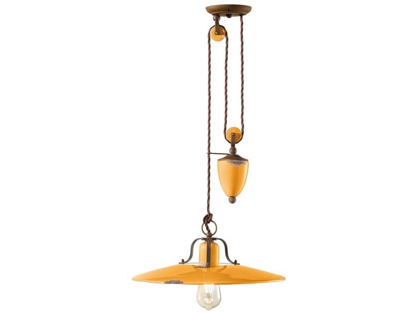 Adjustable ceramic pendant lamp COUNTRY   Adjustable pendant lamp by FERROLUCE