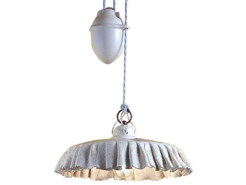 Adjustable ceramic pendant lamp MODENA | Adjustable pendant lamp by FERROLUCE
