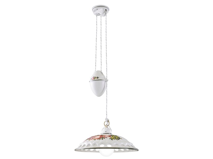 Adjustable ceramic pendant lamp NAPOLI | Adjustable pendant lamp by FERROLUCE