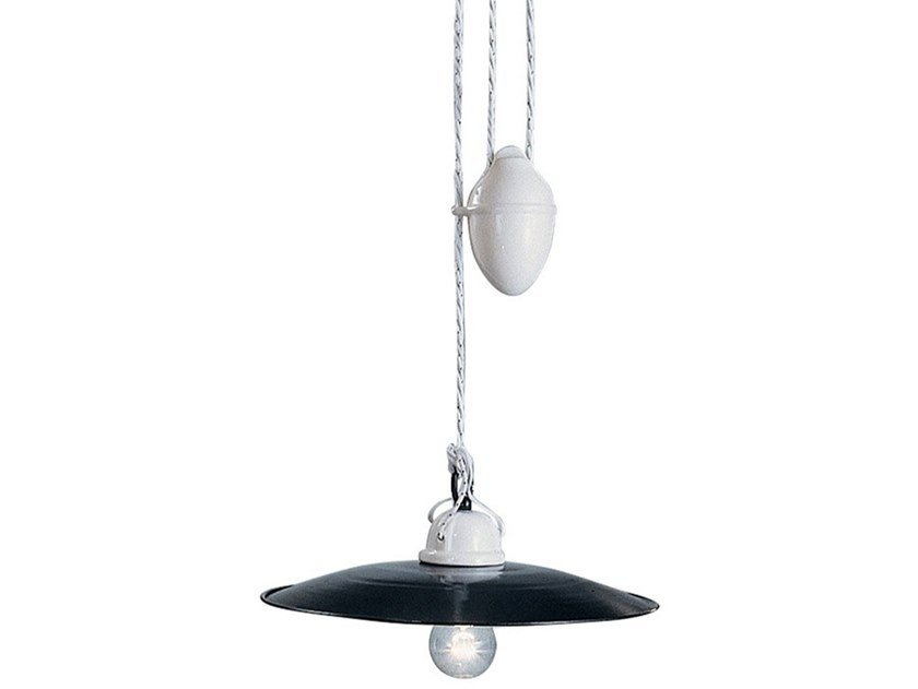 Adjustable ceramic pendant lamp POTENZA | Adjustable pendant lamp by FERROLUCE