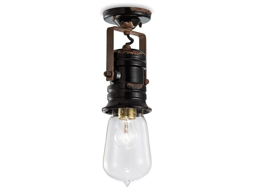 Adjustable round ceiling ceramic spotlight URBAN | Adjustable spotlight by FERROLUCE