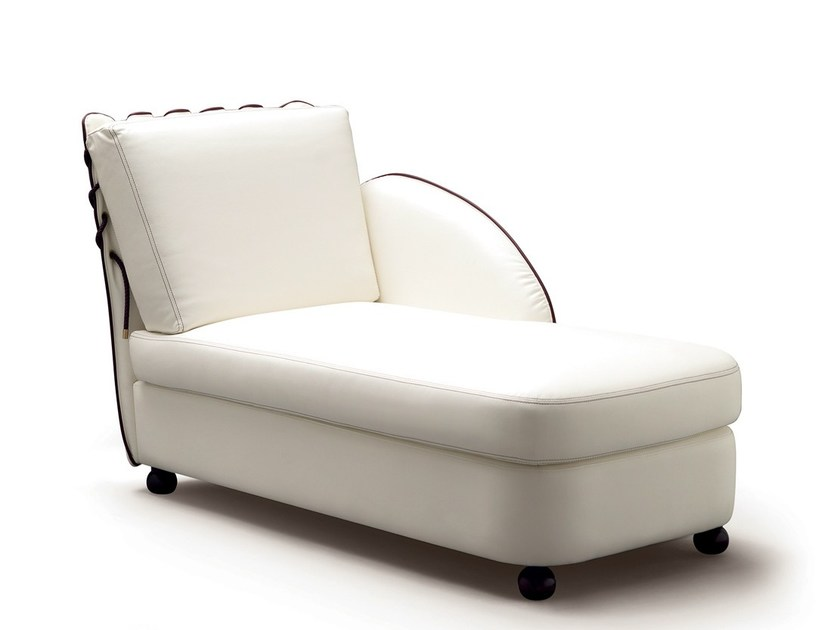 Upholstered leather lounge chair ADMIRAL | Lounge chair by Caroti