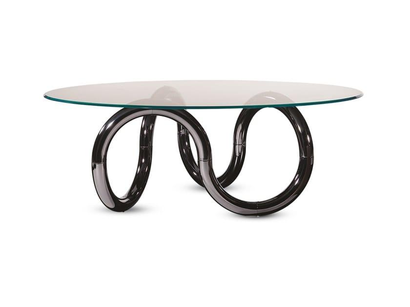 Tavolo da pranzo rotondo in vetro AENIGMA | Tavolo by Reflex