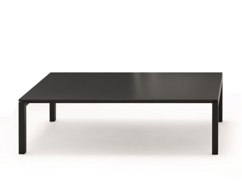 Low rectangular aluminium coffee table AER | Metal coffee table by Fantin