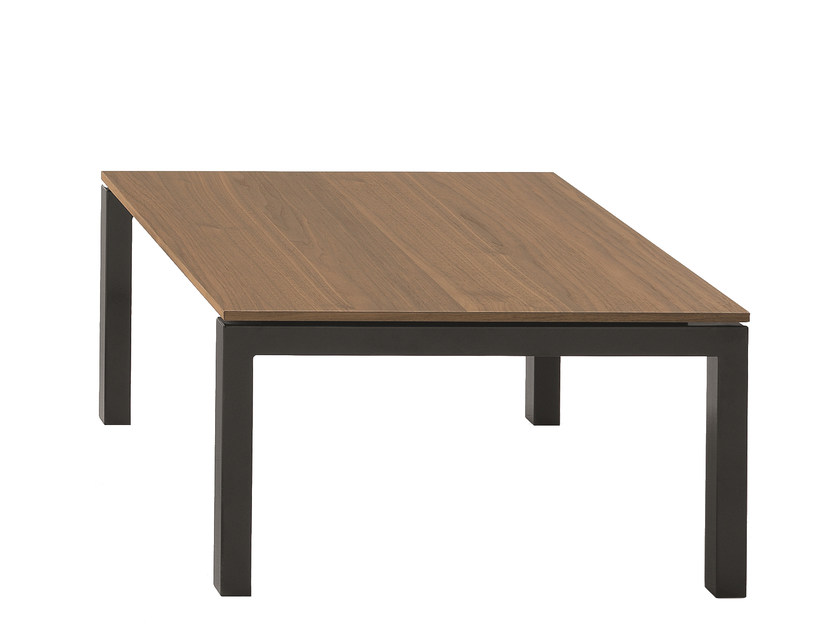 Low square coffee table AER | Wooden coffee table by Fantin