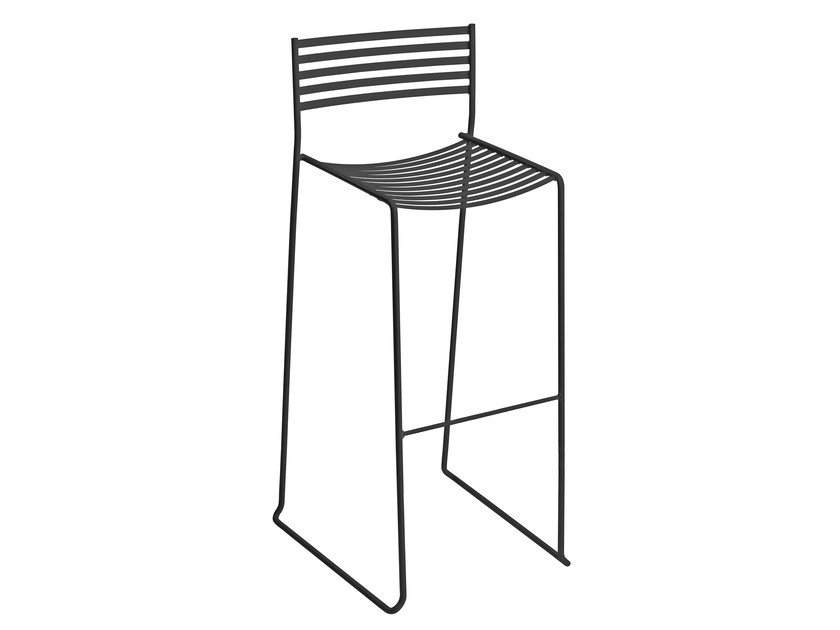 High stackable sled base steel stool AERO | Stool by emu