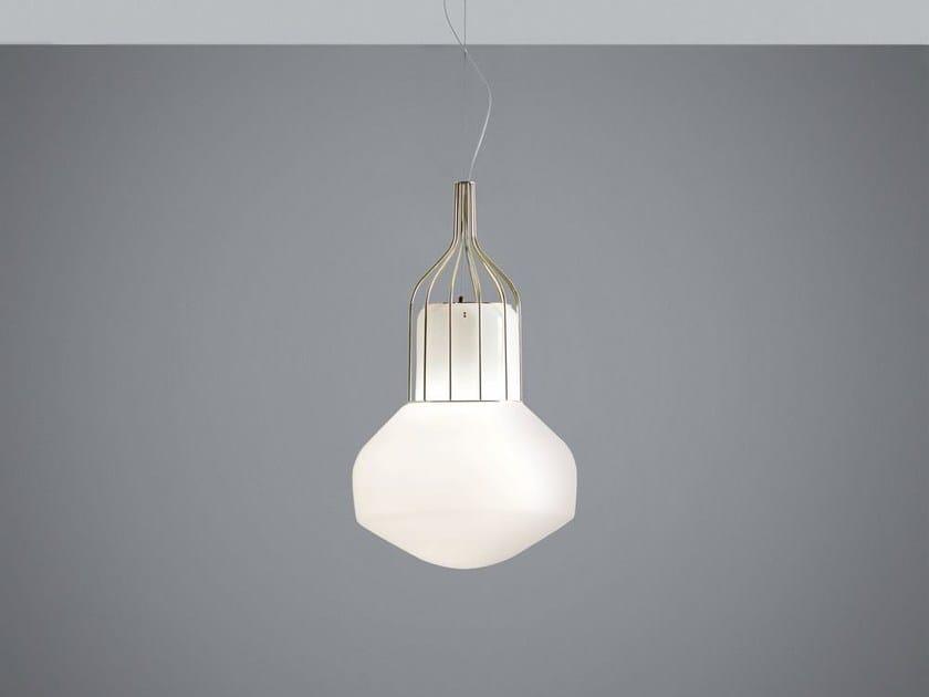 Lampada a sospensione in vetro soffiato AÉROSTAT | Lampada a sospensione in vetro soffiato by Fabbian