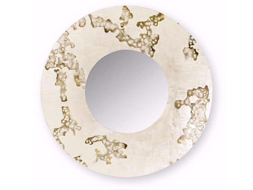 Round Wall Mounted Framed Mirror Africa Flowing By Cantori